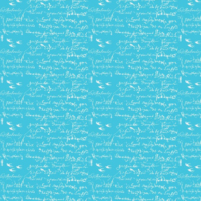 French Script Bold, Aqua Bold
