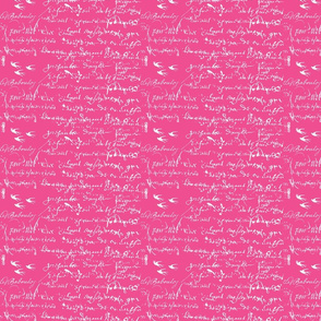 French Script Bold, Shocking Pink