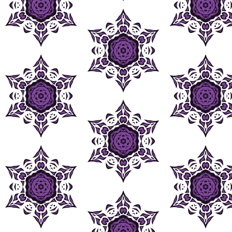 tribal snowflake (purple) fabric by ladyleigh on Spoonflower - custom fabric