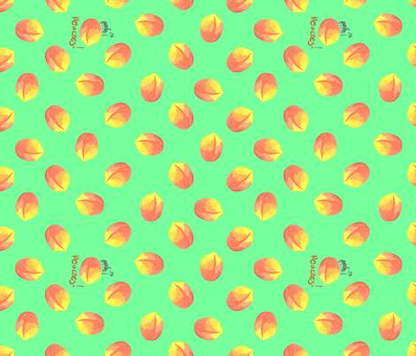 just peaches fabric by mojiarts on Spoonflower - custom fabric