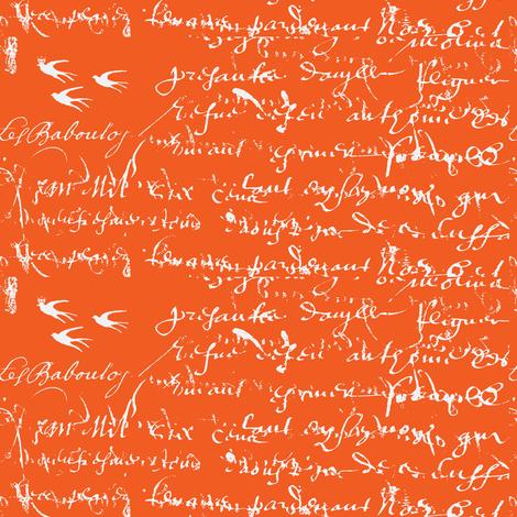 French Script Bold, Orange Juice
