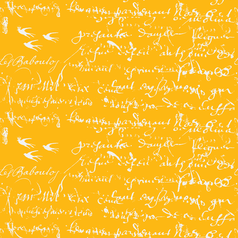 French Script Bold, Duck's Beak fabric by karenharveycox on Spoonflower - custom fabric