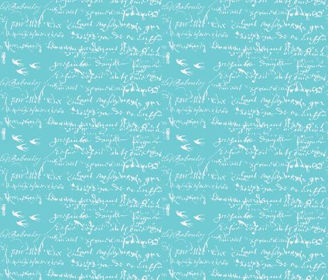 French Script Bold,  fabric by karenharveycox on Spoonflower - custom fabric