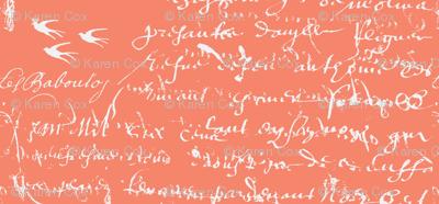 French Script Bold, Deep Peach