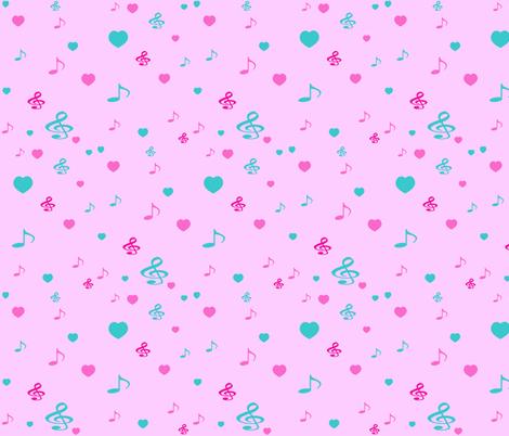 BEARY NICE HEARTS fabric by bluevelvet on Spoonflower - custom fabric