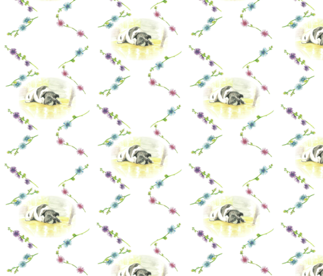 Libby in the Sunroom with Flowers fabric by karinalea on Spoonflower - custom fabric