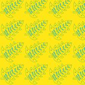 yellow/blue leaf