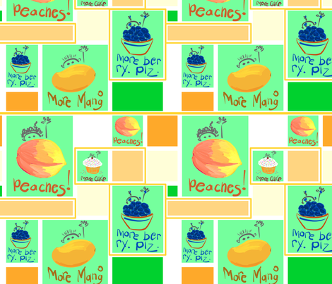 mango mod rectangles fabric by mojiarts on Spoonflower - custom fabric