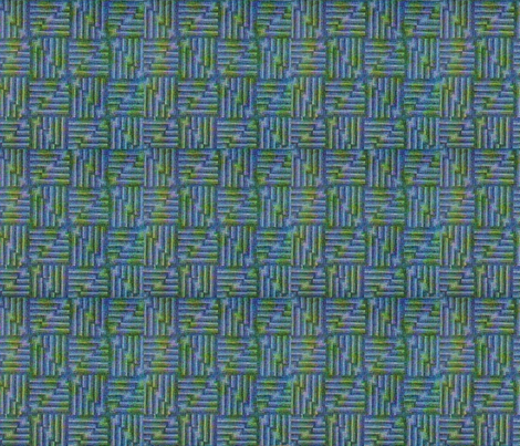 Vintage Blue Green fabric by tulsa_gal on Spoonflower - custom fabric