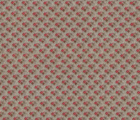 Vintage Grey Red fabric by tulsa_gal on Spoonflower - custom fabric