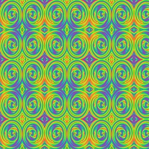 Psychedelic Rainbow Swirl