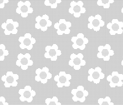 Art By Typewriter - Daisies Light fabric by shelleymade on Spoonflower - custom fabric