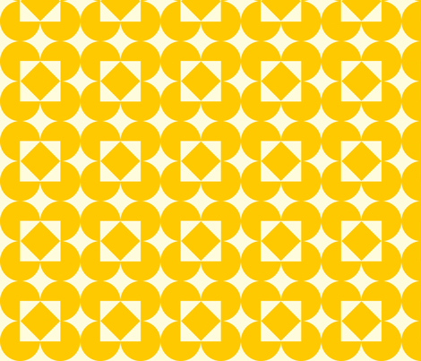 yellowdiamondpattern fabric by laurawilson on Spoonflower - custom fabric