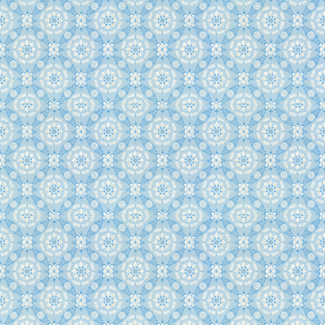vintage light blue fabric by tulsa_gal on Spoonflower - custom fabric