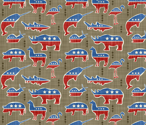 Political Icon Imposters fabric by dianef on Spoonflower - custom fabric