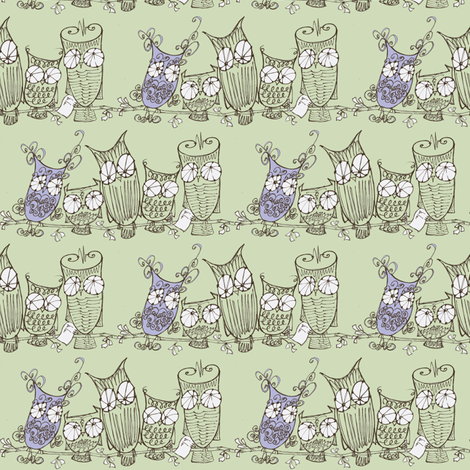 The Committee_chocolate/mint/lavender fabric by cheeseandchutney on Spoonflower - custom fabric