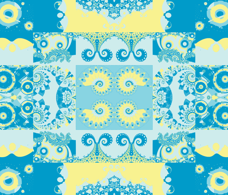 Fractal Tropical Sea Cheater Quilt fabric by clotilda_warhammer on Spoonflower - custom fabric