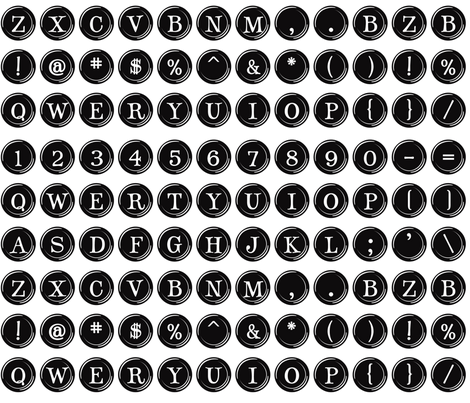 Typewriter Overnighter fabric by bzbdesigner on Spoonflower - custom fabric