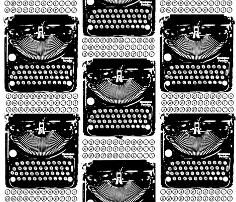 Type and Typewriter fabric by bzbdesigner on Spoonflower - custom fabric
