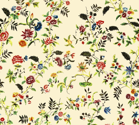 Rococo - Painted Silk, c. 1750-60 fabric by bonnie_phantasm on Spoonflower - custom fabric