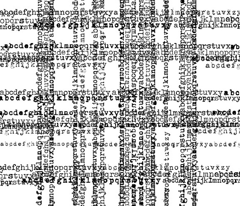 Typewriterfonts check pattern