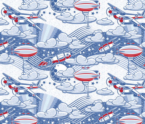 Aeronautical dreaming 80% reduction fabric by cjldesigns on Spoonflower - custom fabric