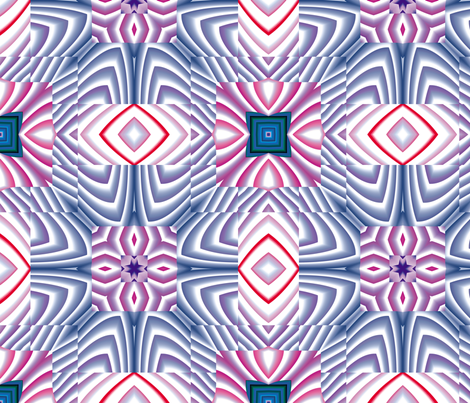 Flowery Incan Tiles 12 fabric by animotaxis on Spoonflower - custom fabric