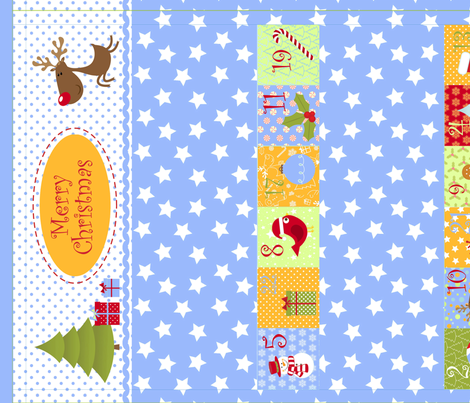 Christmas Calendar for Boys (Cut and Sew Pattern) fabric by drafoeki on Spoonflower - custom fabric
