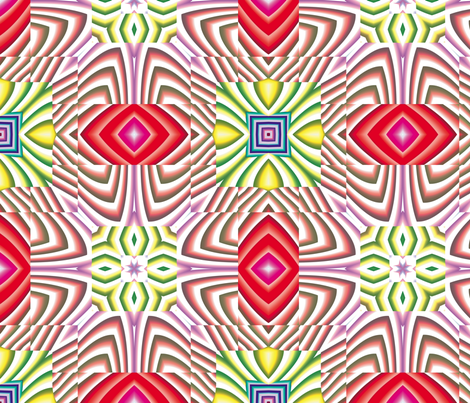 Flowery Incan Tiles 14 fabric by animotaxis on Spoonflower - custom fabric