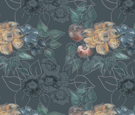 flowers & ink - pastels fabric by rcm-designs on Spoonflower - custom fabric