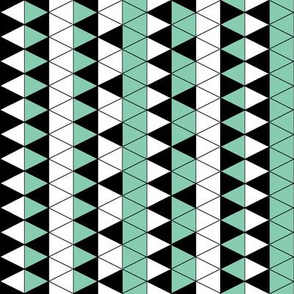 Triangle Check Mint Stripe