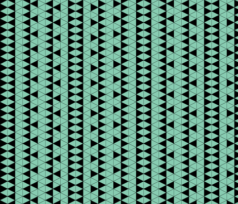 Triangle Check Mint fabric by pond_ripple on Spoonflower - custom fabric