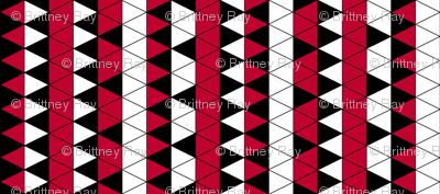 Triangle Check Red Stripe