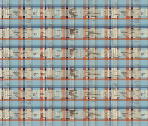 Cork_Denim_check fabric by sarahjtwist on Spoonflower - custom fabric
