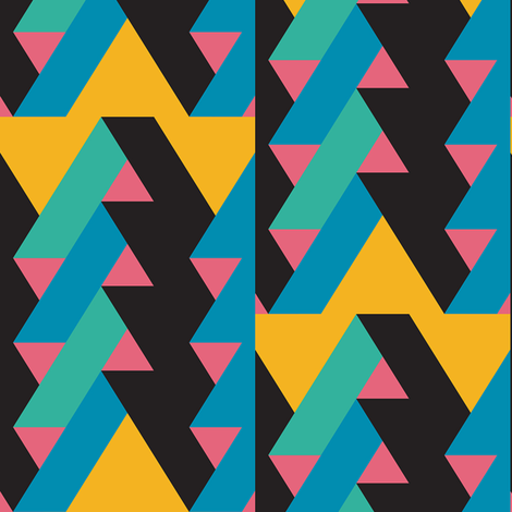 ribbon chevron pattern 1