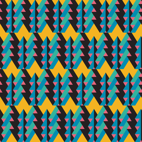 ribbon chevron blue fabric by pencilmein on Spoonflower - custom fabric