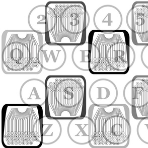 typewriter number letter pattern