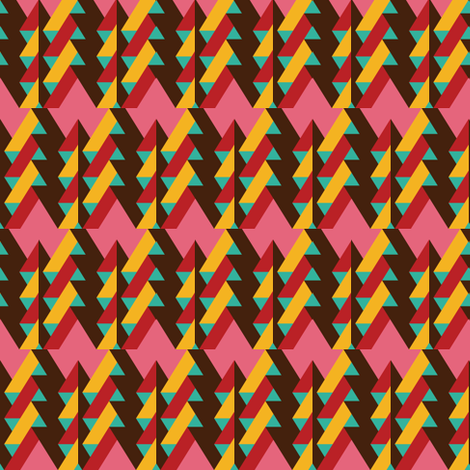 ribbon chevron pattern 2 fabric by pencilmein on Spoonflower - custom fabric