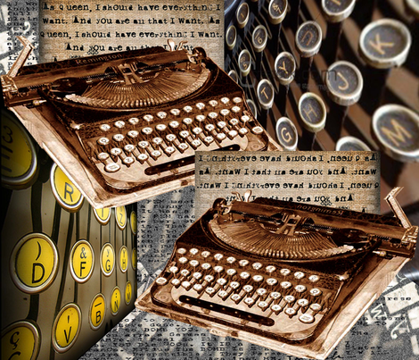 old_fashioned_typewriters fabric by riztyd on Spoonflower - custom fabric