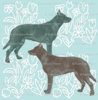 Beauceron Dog Fabric