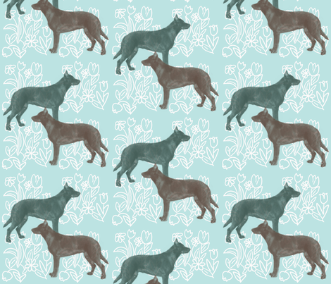 Beauceron Dog Fabric fabric by dogdaze_ on Spoonflower - custom fabric