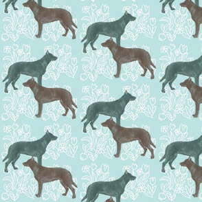 Beauceron Dog Fabric
