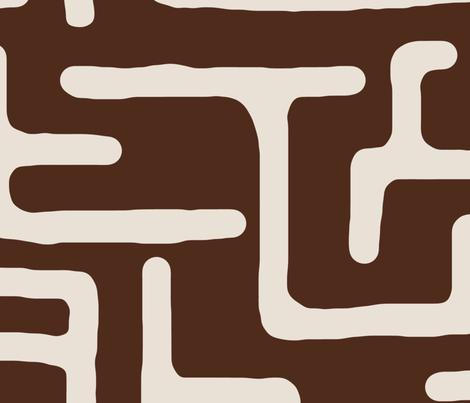 Kuba in timber fabric by domesticate on Spoonflower - custom fabric