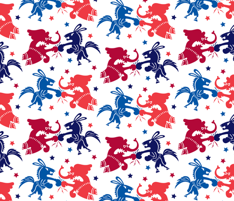 Political Fight fabric by andibird on Spoonflower - custom fabric