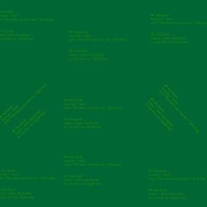 bash script1 - dk green