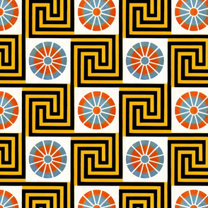 Egyptian graphic pattern