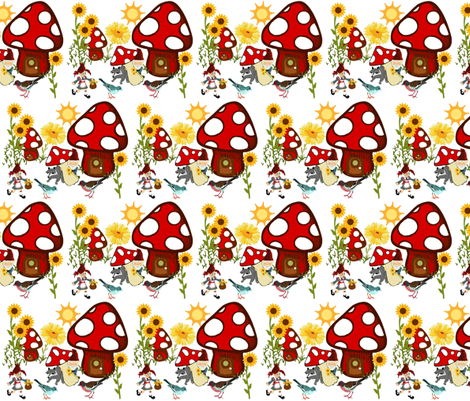 Suzie Home Sweet Home fabric by paragonstudios on Spoonflower - custom fabric