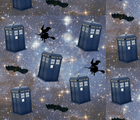 Halloween Tardis in Space