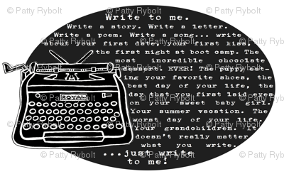 Write to me! (black & white)