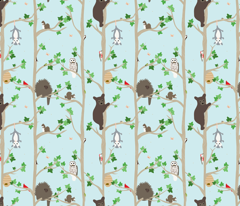 Woodland fabric by einekleinedesignstudio on Spoonflower - custom fabric
